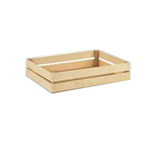 Cassetta Legno Naturale Rettangolare Media 47x38H8 pz 1 Ideale per confezionare strenne e cesti di Natale regali Medium Rectangular Natural Wood Box