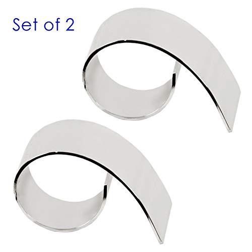 LORENA LIVING 2er Set Serviettenringe Paris, edel versilbert, anlaufgeschützt, Länge 6 cm, Durchmesser 3,5 cm, geeignet für handelsübliche Servietten aus Papier oder Stoff