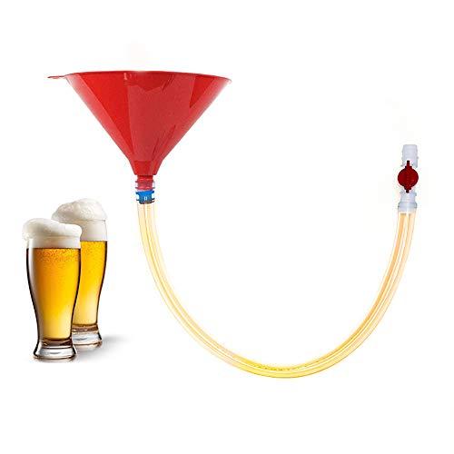 GGHKDD Embudo de cerveza de un solo tubo, material PP de cerveza Bong embudo con un solo tubo, práctico embudo de cerveza para entretenimiento de fiesta, festival de cerveza, bar