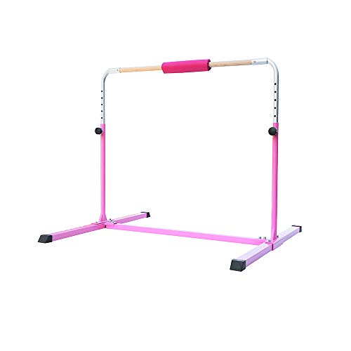 Fityou Gymnastics Bar for Kids, 35'-59' Height Adjustable Gymnastics Horizontal Bars, Gymnastics Training Bar for Home Sports Training Equipment, Ideal Birthday for Kids