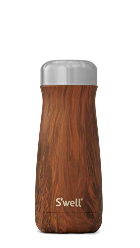S#039well Stainless Steel Travel Mug  16 Fl Oz  Teakwood  TripleLayered VacuumInsulated Containers Keeps Drinks Cold for 26 Hours and Hot for 11  with No Condensation  BPA Free Water Bottle