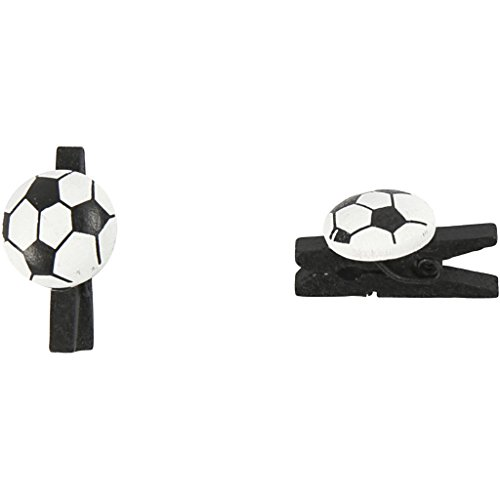 Lot de 10 piquets de football, taille 14 x 25 mm, épaisseur 12 mm, noir
