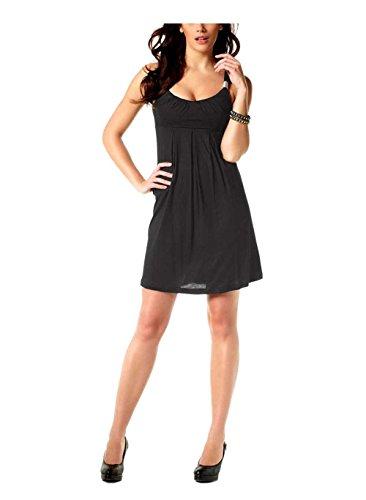 Laura Scott Damen-Kleid Kleid mit Schmuckelement Schwarz Größe 32