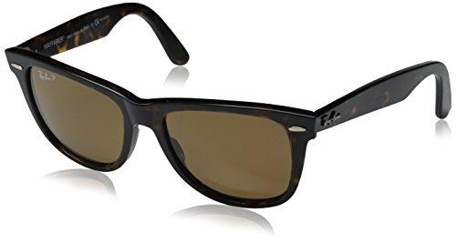 Ray-Ban Unisex Original Wayfarer Sonnenbrille - polarisierte / Kristal Braun Polarized, M Schildkröte
