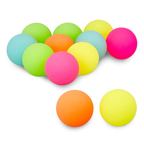 MATICAN 12-Pack Large Bouncy Balls, Bright Neon Colors 2.35' Big Rubber Super Bouncing Balls for...