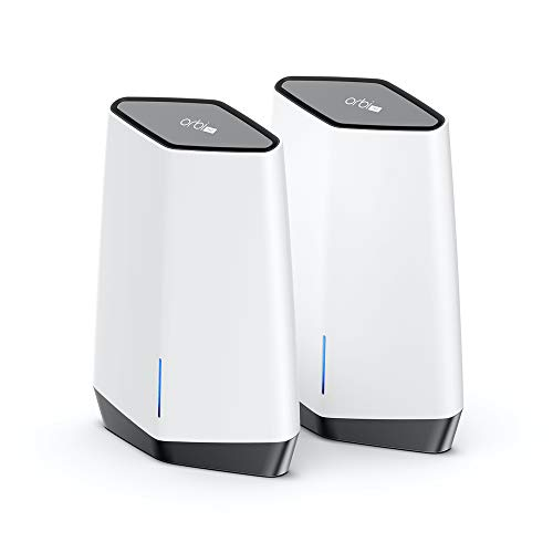 NETGEAR Orbi Pro WiFi 6 Tri-band Mesh System (SXK80) | Router with 1 Satellite Extender for Business or Home | Coverage up to 6,000 sq. ft. and 60+ Devices | AX6000 802.11 AX (up to 6Gbps) (Pack of 2)