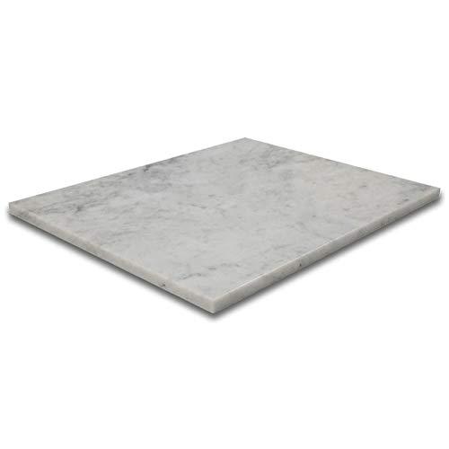 Besdor Marble Pastry Board 16 x 20 Inch Italian Bianco White Carrara Marble Cutting Board Marble Slab