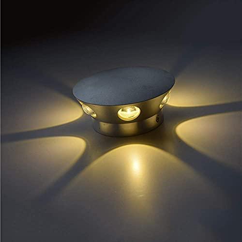 LLLKKK Viraaty - Lámpara de pared de aluminio, moderna lámpara de pared al aire libre, impermeable, para exteriores, LED, de aluminio, impermeable, 6 W, 100-277 V, 3000 K
