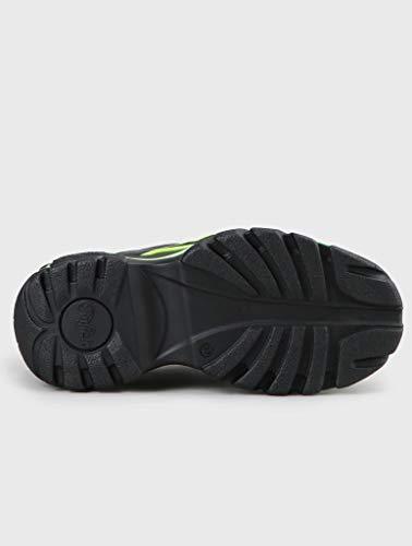 Buffalo London Classic Boots Shoes Schuhe NEON Yellow 1339-14 (37 EU, Schwarz)