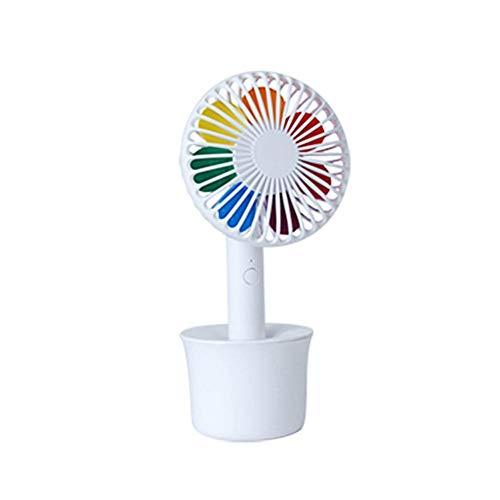 Perfecthome tafelventilator, oplaadbaar via USB, kleurrijk, TY-S11 mini-ventilator, elektrisch, wind, koud, met 3 modi, voor de woonkamer thuis