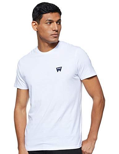 Wrangler Sign Off tee Camiseta, Blanco (White 312), Large para Hombre