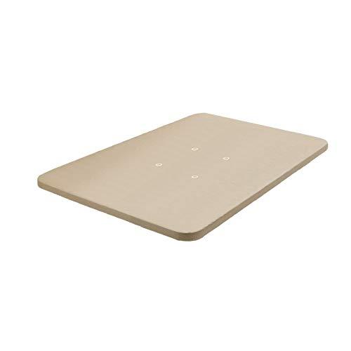 HOGAR24 ES Base tapizada 105 x 190 Reforzada sin Patas, tapizado 3D Color Beige + 4 válvulas de transpiración