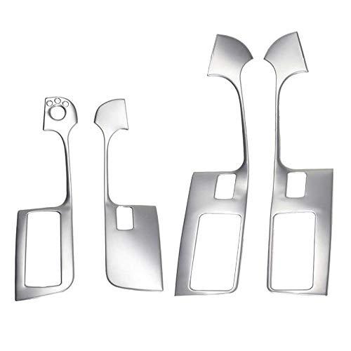 LKJsagd Etiquetas engomadas de los Botones de la elevación del Vidrio de la Ventana del Coche, aptas para Audi A6 C5 C6