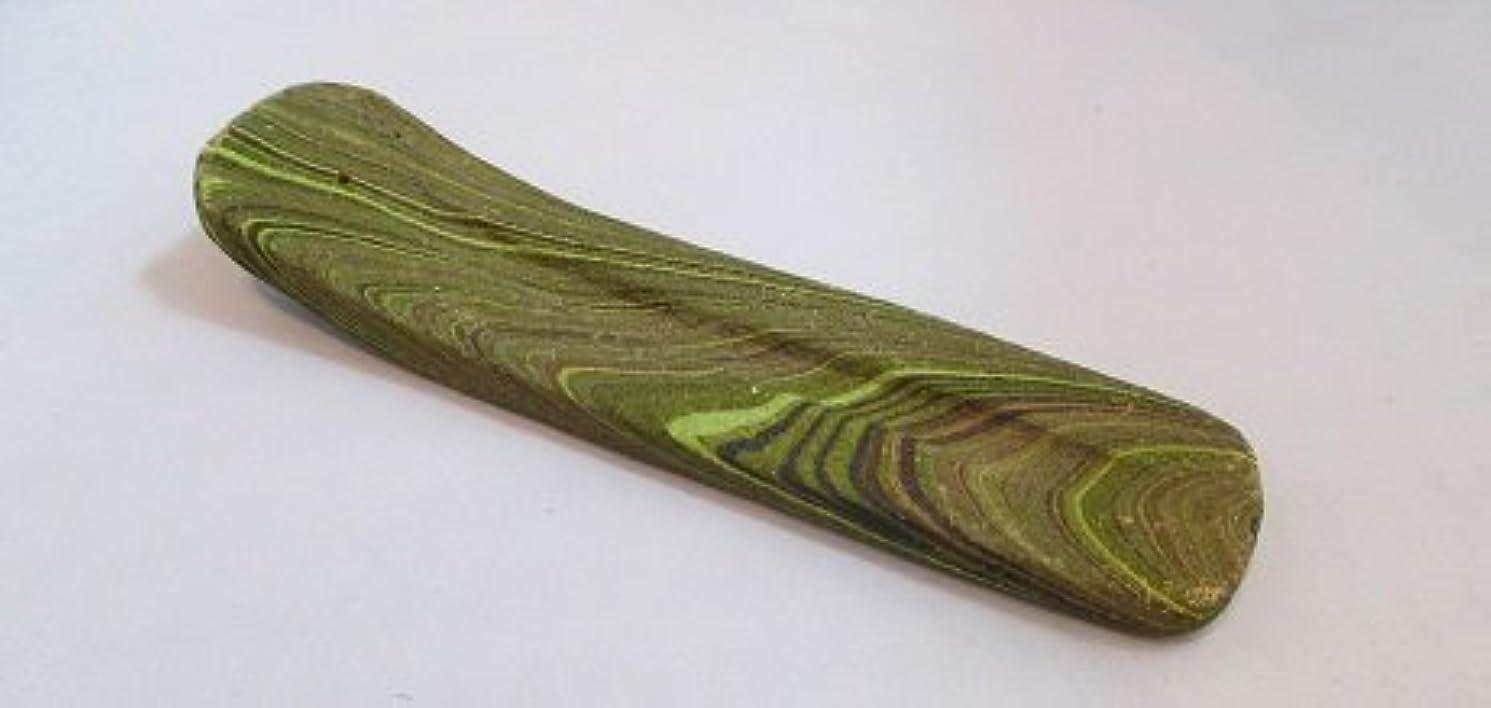 結晶野な伝統カラーお香立て (緑)