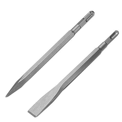 NICOLIE 14mm SDS Plus Shank Sharp Cincel Flat Cincel para Taladro de Martillo Eléctrico - S