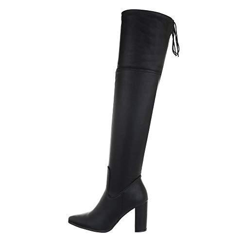 Ital-Design Damesschoenen Overknee laarzen