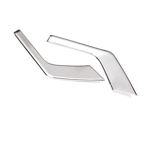 Stubble ABS Chrome Coche Frontal antiniebla Lámpara Lámpara Frame Tiradores Ajuste para Toyota Land Cruiser Prado FJ150 2018 Accesorios para automóviles 2pcs