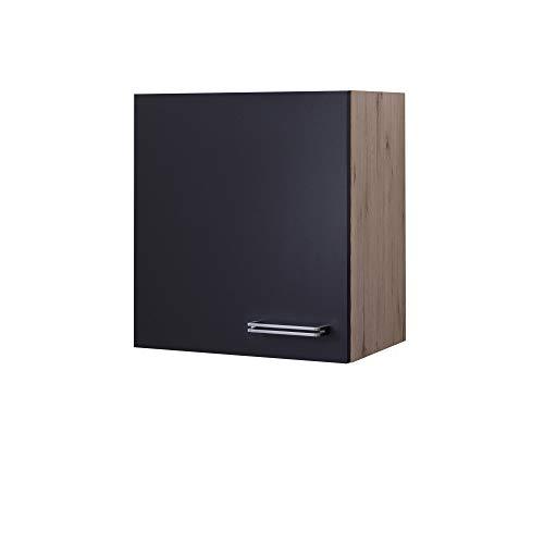 MMR Küchen-Hängeschrank LONDON - Küchenschrank - Oberschrank - 1-türig - 50 cm breit - Anthrazit