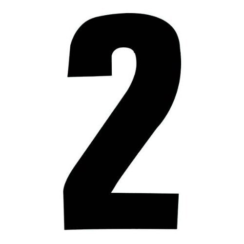 Self Adhesive Wheelie Bin Numbers 17cm - 2 - Black