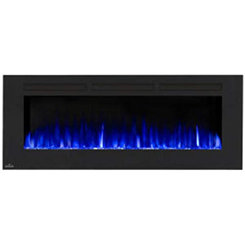 Napoleon Allure-NEFL60FH-MT-Mesh Front Wall Hanging Electric Fireplace, 60 Inch, Black