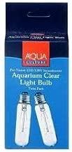 Aqua Culture 15 Watt 120 Volt Aquarium Clear Light Bulb 2 Pack