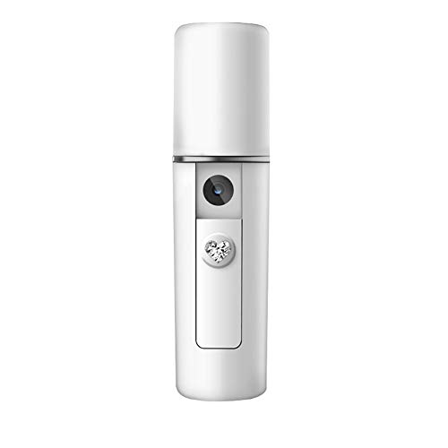QZA,Crema hidratante de Piel Ultra-Recargable: Spray Facial, rociador de Nano-Mist, Spray Facial portátil para una hidratación Profunda, Banco de energía USB Recargable,Sprayer