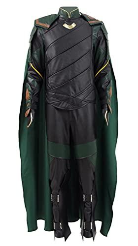 Adult Loki Cosplay Full Set Uniform Laufeyson Dark World Robe Headwea Costume Outfit...