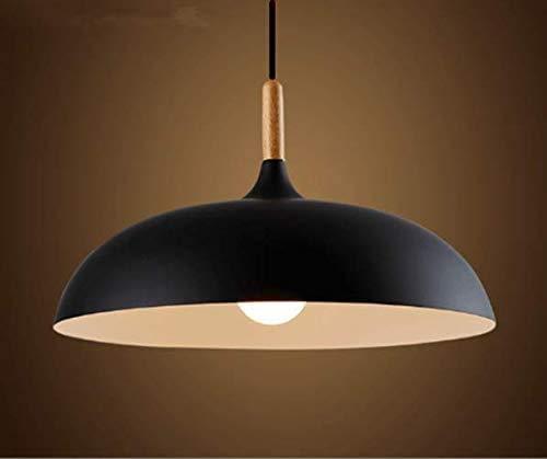 FB FunkyBuy Sospensione lampadario d'Epoca, l'illuminazione di Tipo Industriale, luci della Cucina Che vivono Sala Ristorante, 120 Millimetri Nero,Black