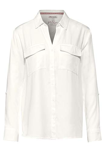 Street One Damen Shirt-Bluse mit Brusttaschen Off White 36