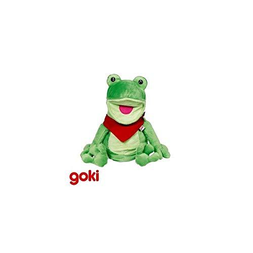 Goki - Marionnette à Main Peluche Animaux Microfibre Jouet d'imitation Enfant 4 Ans + - Grenouille