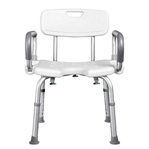 U-Typ Bade Sitzbank, Duschhocker Duschstuhl U-förmige Sitzplatte Höhenverstellbare Badehilfe Für ÄLtere Menschen Mit Behinderungen Und Handicaps Maximales Benutzergewicht 135 kg
