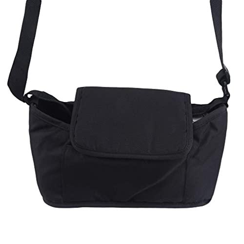 Organizador de pañales para bebé, multifuncional, de gran capacidad, bolsa de mano para mamá, bolsa de hombro individual, cambiador de pañales para mamá, color negro