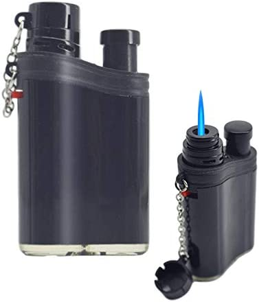 Navpeak Mini Jet Torch Lighter Windproof Flame Refillable Butane Gas Cigar Lighters with Dust Cover Butane Not Included