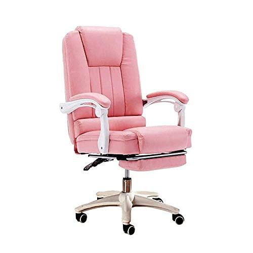 DGDF Boss Silla de oficina ergonómica grande y alta silla de oficina ejecutiva con tapizado giratorio de alta capacidad ajustable acolchado grueso reposacabezas y apoyabrazos para el hogar oficina