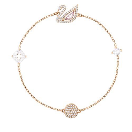 Swarovski Dazzling Swan Armband, Mehrfarbig, Rosé vergoldet
