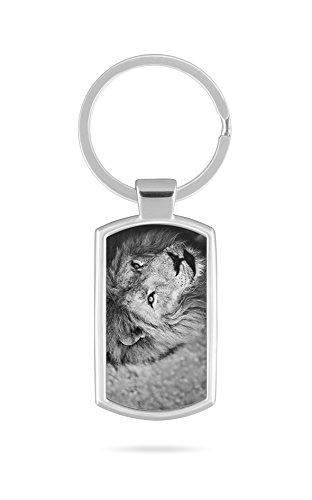 Schlüsselanhänger mit Gravur Wunschtext Name Löwe Tier