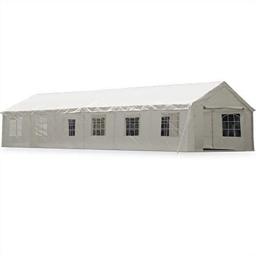 Deuba® Partyzelt 6x12m Pavillon Festzelt Carport Bierzelt Gartenzelt Familienzelt Zelt 12 Rundbogenfenster 72m² Modellauswahl