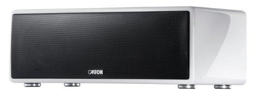 Canton musicbox M Lautsprechersystem (AM/FM-Tuner, 300 Watt) mit Dock-Connector für Apple iPod/iPhone weiß