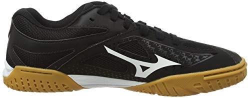 Mizuno Unisex Wave Medal 6 Table Tennis Shoe, Black/White, 4.5 UK
