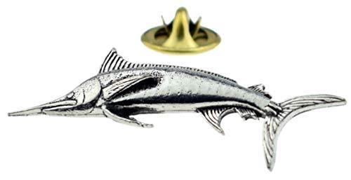 Gemelolandia | Silberne Fisch-Anstecknadel | originelle und preiswerte Pins zum Verschenken | für Hemden, Kleidung oder Rucksack | lustige Details