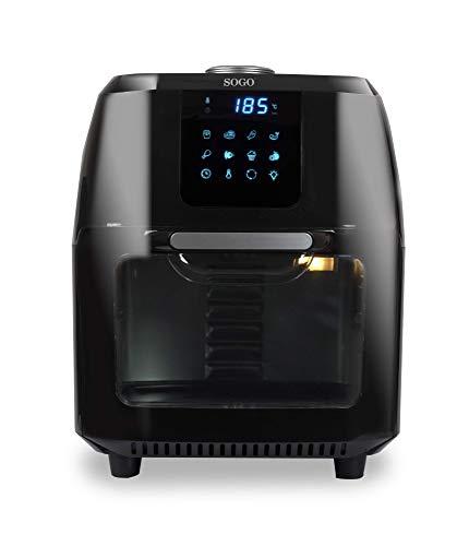 SOGO FRE-SS-10465 Freidora de Aire Caliente 10 litros, Deshidratador, Horno de Aire Caliente, Automático, Asador, 1800 Watts