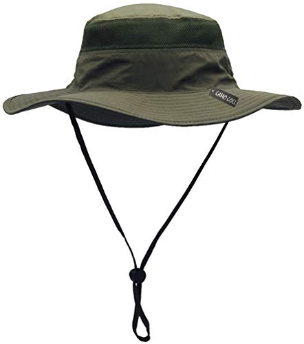 CAMO COLL Outdoor UPF 50+ Boonie Hat Summer Sun Caps (One Size, Sage Green)
