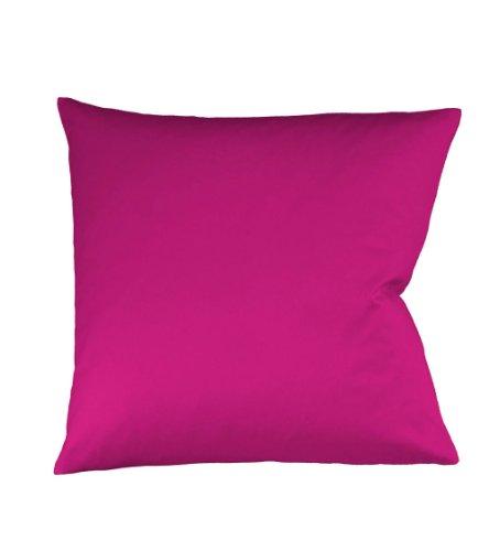 Fleuresse Colours Kissenbezug, Mako Satin, Pink, 40 x 40 cm