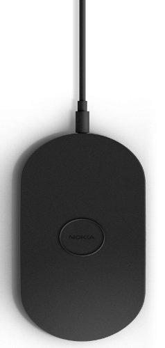 Nokia DT-900 Wireless Charging Plate Drahtloses Tragbares Ladegerät für Lumia 820/920/925/930/1020/1520 (3-pin UK Netzstecker) - Schwarz