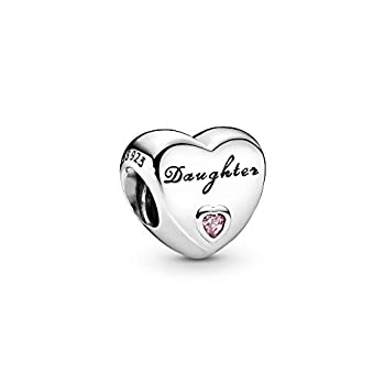 Pandora Jewelry Daughter s Love Cubic Zirconia Charm in Sterling Silver