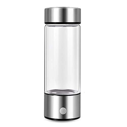 Cmstop Generador de Agua de hidrógeno Botella de Agua Rica en hidrógeno Fabricante de Iones Filtro de Agua Recargable Electrólisis para Agua refrescante