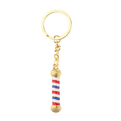 B Blesiya Halskette mit Barber Anhänger Gold Silber Schmuck für Männer Frauen - Golden