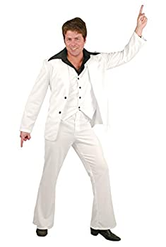 Charades Men s Disco Fever Suit White Large