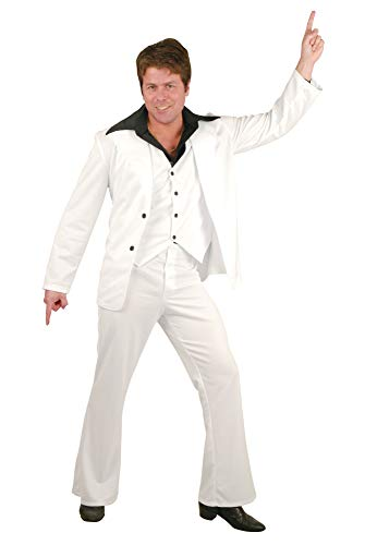 Charades Men's Disco Fever Suit, White, X-Large