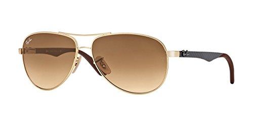 Ray-Ban - Gafas de sol unisex, color dorado, talla 58